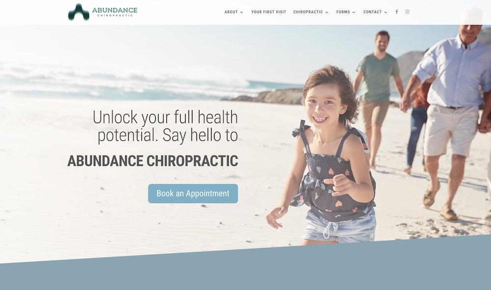 abundance chiropractic website