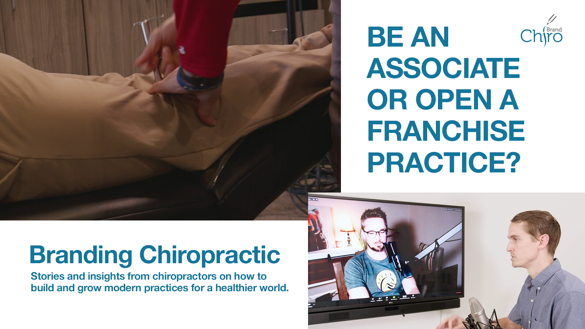 Welcome to Branding Chiropractic, a series of conversations with chiropractors on what it takes to build a successful practice. We talk with Dr. Chris Odom of 100% Chiropractic about his 10-year journey from being an associate chiropractor at several practices, to opening his own office. He discusses what it's like to open a chiropractic franchise with 100% Chiropractic.
