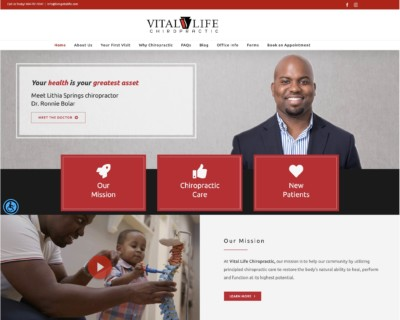 vital life chiropractic website design